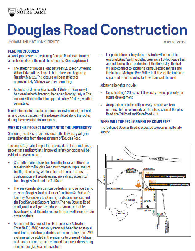 Douglas Road Construction