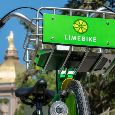 Notre Dame students, faculty, staff embrace LimeBike